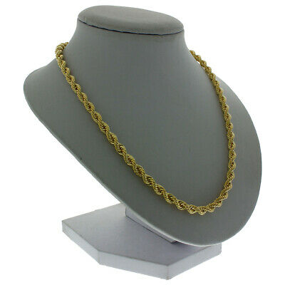 """UK Hallmarked 9ct Gold Long Rope Chain - 30"""" - 4.5mm - 13g RRP £500 (I11_30)"""