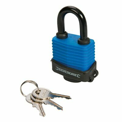Silverline 196551 Weather-Resistant Padlock 50 mm