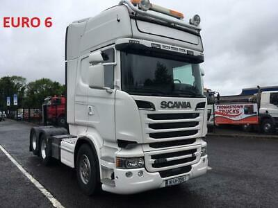 2014 Scania R580 V8 Topline Lhd T/Unit Twin Sleeper, Twin Wheel Tag Axle