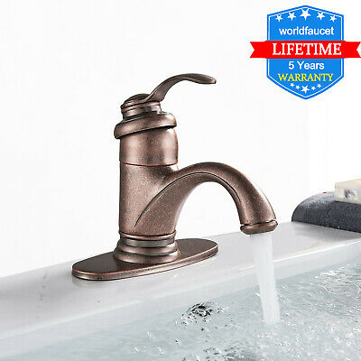 Waterfall Bathroom Faucet Brushed Nickel Single Handle Bath Tub Lavatory Vanity