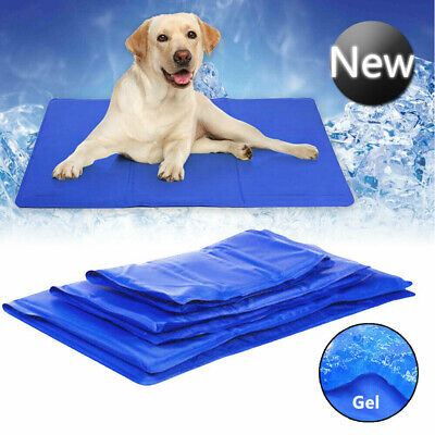 Pet Cooling Mat Pad Gel Cooler For Dog Crate Bed Comfort Chilly Beds M L NEW