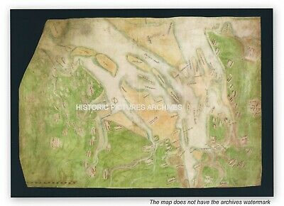 Historic English Hardback Map Henry Viii Defence Map 1544 River Thames & Medway