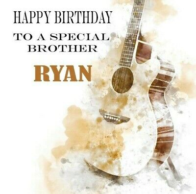 PERSONALISED GUITAR BIRTHDAY CARD Any Name, Son, Grandson, Brother, Nephew etc
