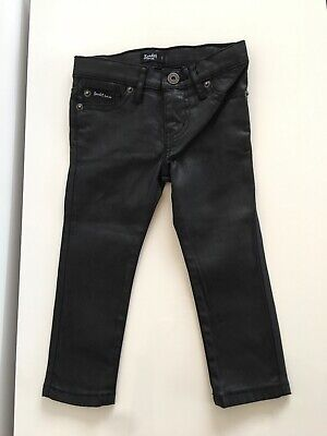 Bardot Junior Boys Coated Black Jeans Size 1 New Without Tags