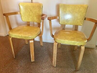 Art Deco / Moderne Bentwood Thonet Arm Chairs / 2 all original condition,1930's