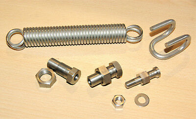 NORTON Featherbed Center Stand fitting Kit stainless & spring Ständer anbaukit