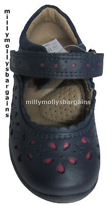 New Baby Girls Pink / Red Blue NEXT Leather Shoes Size 3 4 5 F G Infant RRP £24