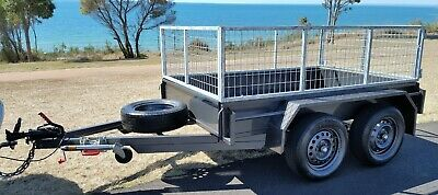QLD Built BRAND NEW 8x5 Caged Tandem Trailer Jockey Spare Heavy Duty