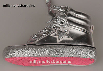 New Baby Girls Silver NEXT Trainers Size 3 4 5 Infant RRP £20