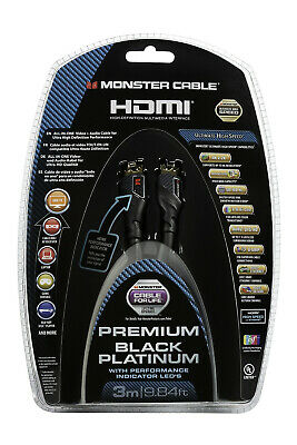 Monster Premium 4K UltraHD HDR HDMI Cable Black Platinum Ultimate 27Gbps 3m
