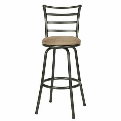Awesome Roundhill Furniture Adjustable Height Wood And Chrome Metal Bralicious Painted Fabric Chair Ideas Braliciousco