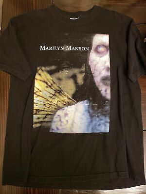 Men's Clothing T-Shirts Rare Vintage Marilyn Manson 1998 Winterland S-XL A699