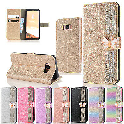 For Samsung Galaxy A50 Case S10 5G S10e A30 A70 Bling Leather Wallet Phone Cover