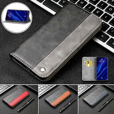 For Huawei P Smart 2019 Case P30 Y6 2019 PU Leather Magnetic Flip Wallet Cover