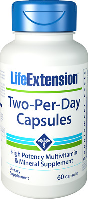 Make Offer: Life Extension Two-Per-Day Capsules, 60 caps | Multivitamin | 02317