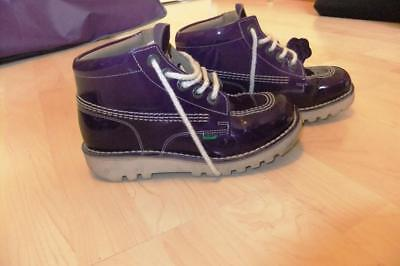 dabaeca9d7be6a CHAUSSURES FEMME KICKERS Rallye Violettes Vernies Taille 36 - EUR 17 ...