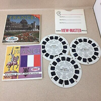 Vintage View-Master 3-Reel Set France Country Series Complete Booklet A106