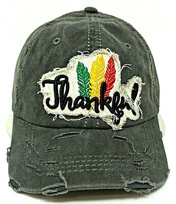 OWL Ball Cap Pigment Washed Distressed Dad Hat Adult OSFM NWT