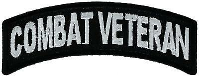"Combat Veteran Rocker Patch 4/"" MC Patch Vietanm Iraq Afgan FAST USA SHIPPING"