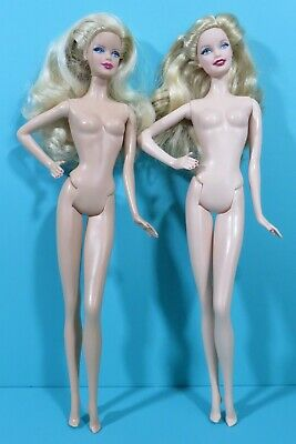 Barbie Model Muse Body Holiday 2013 2014 2 Nude Blonde Doll Lot For OOAK Play
