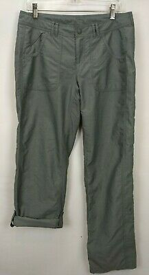 The North Face Womens Convertible Pants 8 Green Roll Up Hiking Camping Outdoor
