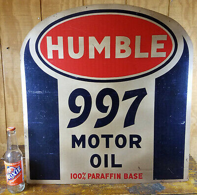 Extra Large Humble 997 Motor Oil Cardboard Standee Stand Up Gas Station Sign
