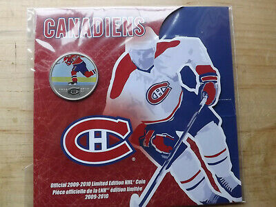 MONTREAL CANADIENS 2009-2010 Limited Edition 50 Cents NHL Coin