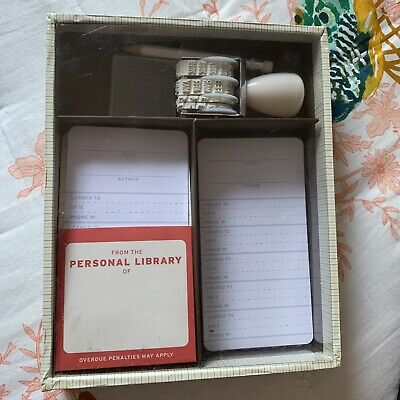 DIY Library Kit Ephemera Stamp Cards Retro Crafts Scrapbooking