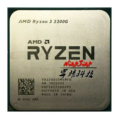 AMD Ryzen 3 2200G R3 2200G 3.5 GHz Quad-Core Quad-Thread processeur d'unité cent