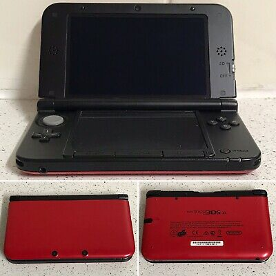 Nintendo 3DS XL Red and Black Bundle With 10 Games!!!