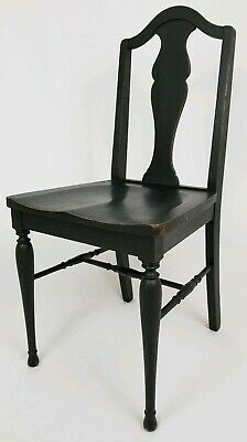 Vintage Oak Dining Accent Chair Mission Arts & Crafts Style Farmhouse Rustic