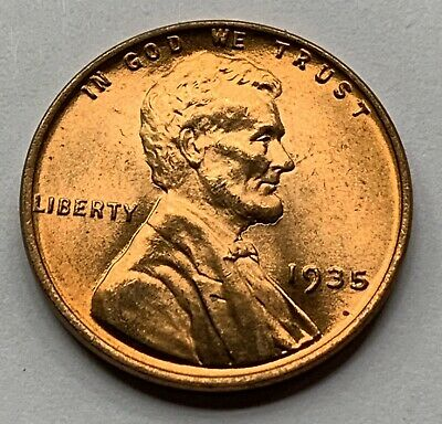 1935 P Lincoln Wheat Penny, Cent, (Lamination) Error Coin