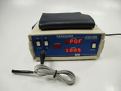 Kerasonix Model KSX1000 Ultrasonic Pachymeter w/ Probe - OTI Medical Services