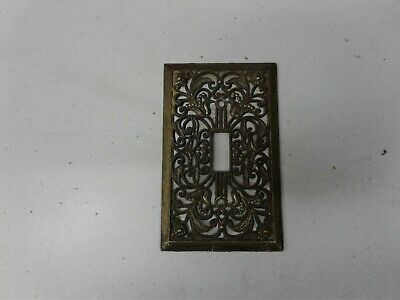 Vintage Imitation Brass Light Switch Cover Plate Sunflowers (g335)