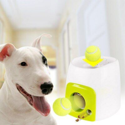 2 in 1 Interactive Pet Dog Launcher Tennis Ball Toy Fetch Thrower Hyper Training