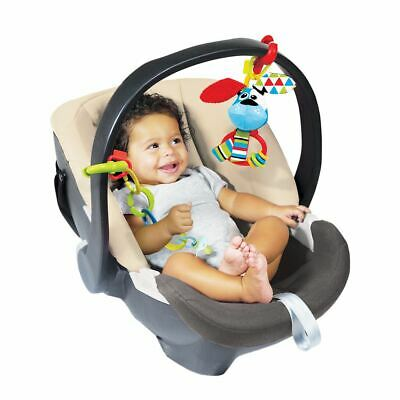Yookidoo Clips Rattle Set Baby Toy for Strollers Car Seat Cribs Multi-textured