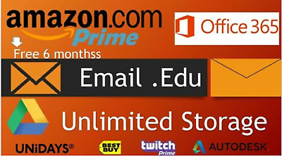 Edu Email Student 6Months Amazon Prime Unlimited Google Drive CSSF EMAILS 🌟🌟🌟