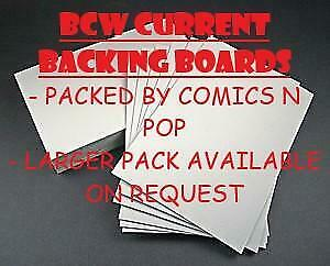 100 Bcw Current Size Backing Boards Fast Post Acid Free