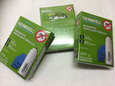 LOT OF 2 - Thermacell R-1 Mosquito Repeller Refill, 1 Cartridge; 3 Mats