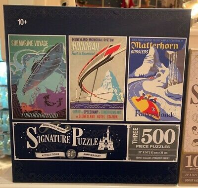 Disney Parks Disneyland Resort Signature Puzzle Attraction 60th Anniversary New