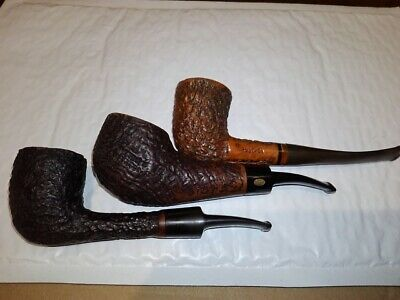 Lot of 3 used vintage pipes, Iwan Ries, GBD Historic Collector, Rustica/Italy