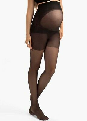 NEW - Blanqi - Ultra Sheer Belly Support Maternity Pantyhose in Black