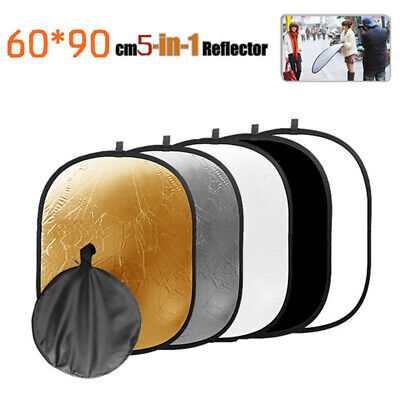 5 In 1 Light Reflector Oval Durable Accessories Photography Studio Collapsible