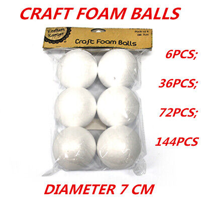 Styrofoam Balls Craft Polystyrene Shape Form Foam Decorating Modelling Art 6Pack
