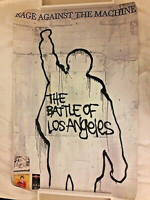 Rage Against The Machine - The Battle Of Los Angeles RARE Two Sided 1999 Poster