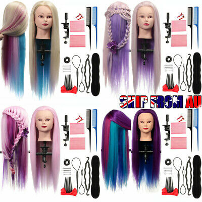 Hair Training Head Practice Salon Hairdressing Mannequin Doll Model + 16Tool