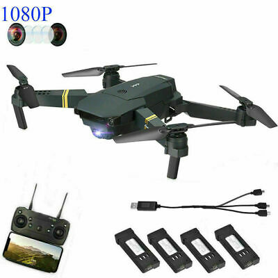 Drone X Pro Foldable Quadcopter WIFI FPV with 1080P HD Camera +3 Extra Batteries