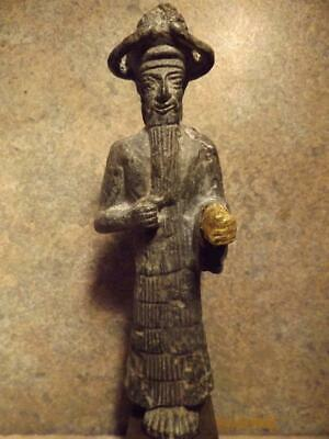 Mesopotamian museum replica statue Inshushinak - City of Susa.Elamite sculpture