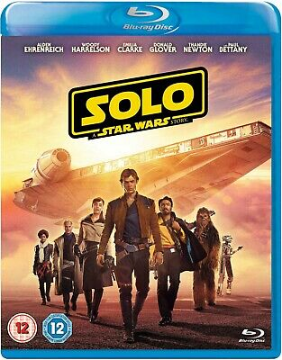 Star Wars Solo New Blu-ray Solo A Star Wars Story Brand NEW Sealed 8717418534554