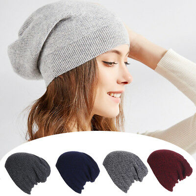 New Men Women Warm Oversize Beanie Skull Baggy Cap Winter Slouchy Knit Hat